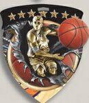Custom Male Basketball Stock Full Color Burst Medal (3
