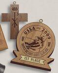 Custom Custom Shape Wood Medal (3