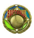 Custom Softball Die Cast Suncatcher Medal (2.5