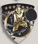 Custom Hockey Stock Full Color Burst Medal (3