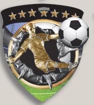 Female Soccer Stock Full Color Burst Medal (3)