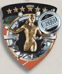 Custom Female Track Stock Full Color Burst Medal (3