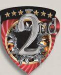 Custom 2nd Place Stock Full Color Burst Medal (3