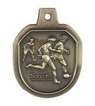 Custom Soccer Male Stock Die Cast Medal (1.5