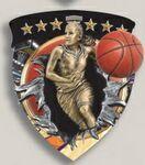 Custom Female Basketball Stock Full Color Burst Medal (3