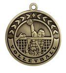 Custom Volleyball Stock Die Cast Medal (2