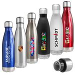 Custom Atlantis 17 Oz. Double Wall Vacuum Insulated Stainless Steel Bottle (Blue)