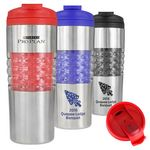 Custom Atlantis 16 Oz. Double Wall Stainless Steel Tumbler (Red/Silver)