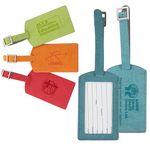 Custom iPosh PU Leather Luggage Tag - Teal Green