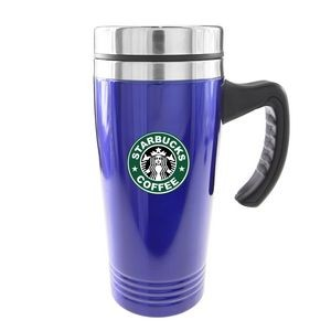 Traveler 16 Oz. Double Wall 18/8 Stainless Steel Mug (Blue)