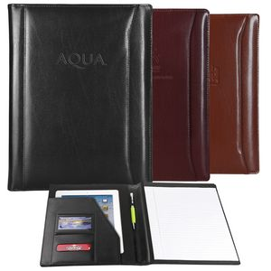 Black Atlantis Leather Padfolio