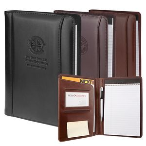 Black Atlantis Tuscan Leather Junior Padfolio