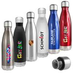 Custom Atlantis 17 Oz. Double Wall Vacuum Insulated Stainless Steel Bottle (Gunmetal)