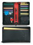 Custom Black Matrix Travel Wallet