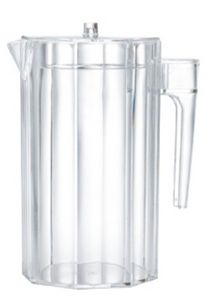 1.5 Qt. Octagon Acrylic Pitcher W/ Lid & Open Handle