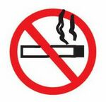 Custom No Smoking Sign Promotional Magnet w/ Strip Magnet (3 Square Inch)
