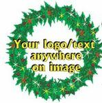 Custom Christmas Wreath Bumper Sticker