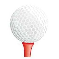 Golf Ball & Tee Lapel Pin