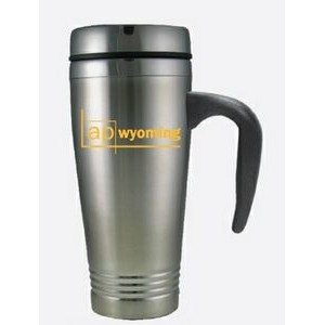 16 Oz. Stainless Travel Mug w/Handle