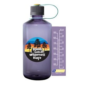 32oz Tritan Narrow Mouth Nalgene Full color bottle