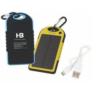 Solar Dual Port Water Resistant Power Bank (4000mAh-5000mAh)