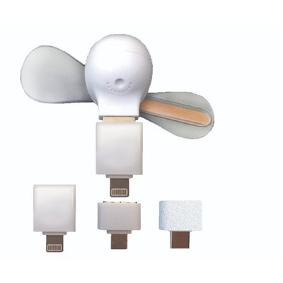 3-IN-1 LED Light-Up Cell Phone Fan