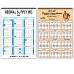 Custom Single Sheet Wall Hanger Calendar (1 or 2 Color)