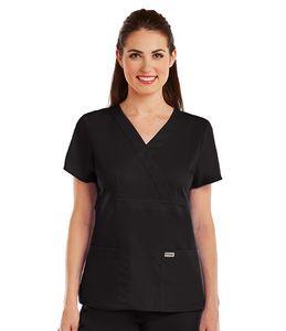 Greys Anatomy 3-Pocket Mock Wrap Top