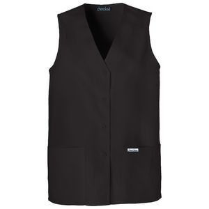 Cherokee Fashion Solids Women's Button Front Vest