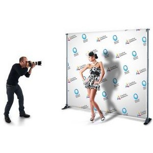 "Back drop w/Sublimated Fabric 48"" x 92"" with Stand"