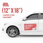 Custom Large Car Magnet (12