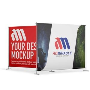 Back Drop 8'x10' SUBLIMATED Fabric with Stand