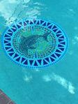 Custom Sinking Round pool mosaic mats 39