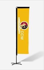 13.5 Single Side Kit RECTANGULAR Flag W/Spike