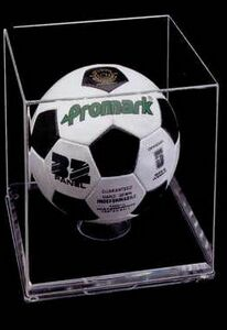 Acrylic Soccer Ball Case w/ 1/4 Beveled Base