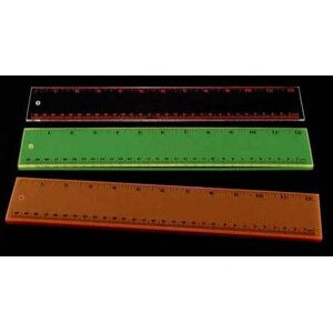 Acrylic Award Ruler - Clear w/ Red Print
