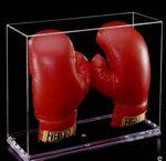 Custom Acrylic Double Boxing Glove Case w/ 1/4