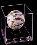 Custom Acrylic Baseball Multi Case w/ 9 Ball Enclosure & 3/4