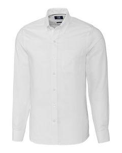 Custom Cutter & Buck Easy Care Nailshead Tailored Fit Shirt - Men's