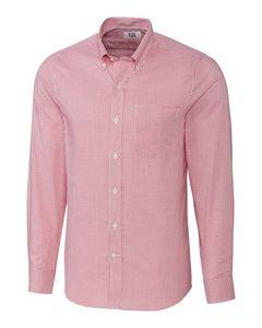 Custom Cutter & Buck Easy Care Tattersall Tailored Fit Shirt - Men's
