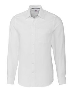 Custom Cutter & Buck Easy Care Spread Collar Nailshead Tailored Fit Shirt - Men's