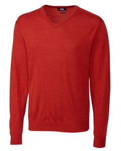 Custom Cutter & Buck Douglas V Neck Sweater - Big & Tall