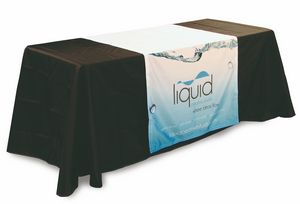 Custom Trade Show Premium Display Cloth Table Runner- Full Coverage