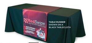 Custom Trade Show Premium Display Cloth Table Runner- Front Panel Only