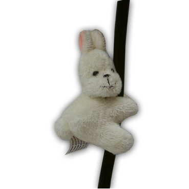 Custom Plush White Rabbit Clippie