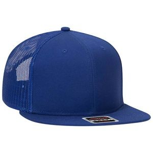 "OTTO Superior Cotton Twill Round Flat Visor ""OTTO SNAP"" 6 Panel Pro Style Mesh Back Snapback Hat"