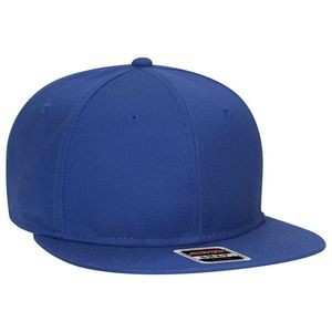 "OTTO Superior Cotton Twill Round Flat Visor ""OTTO SNAP"" Youth 6 Panel Snapback Hat"