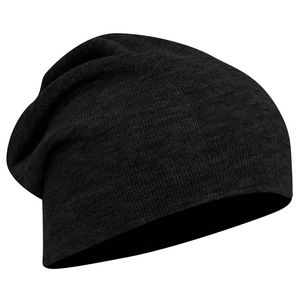 Custom Acrylic knit solid color slouch beanies, 11 3/4