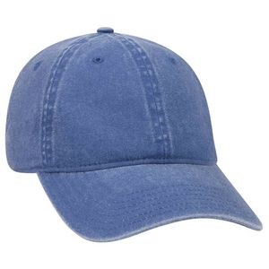 OTTO 6 Panel Low Profile Garment Washed Pigment Dyed Cotton Twill Baseball Cap