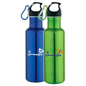 BPA-free imprinted stainless steel sports bottle